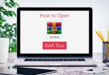 how to open winrar file
