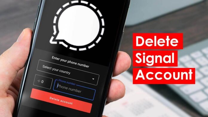 How to delete signal account