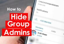 hide telegram group admins