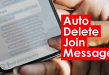 auto delete join message